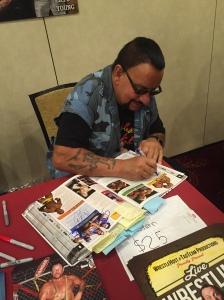 Luke signing