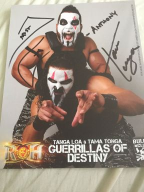Guerrillas of Destiny autograph