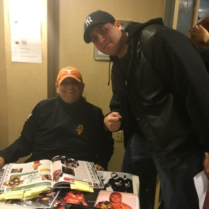 Dusty Rhodes and I at the Big Event Convention; March 7, 2015.