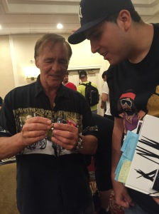 Larry and I admiring his HOF ring