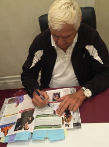 Pat Patterson, first ever WWF Intercontinental Champion, signing my Encyclopedia