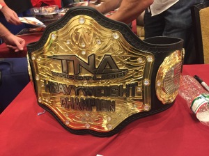 TNA World Heavyweight Championship! That beauty of a title is MASSIVE.