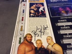 "Bundy autograph in ""King Kong Bundy & Big John Studd"" entry in WWE Encyclopedia, Vol. 2"