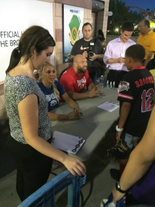 Charlotte & Ryback with fans