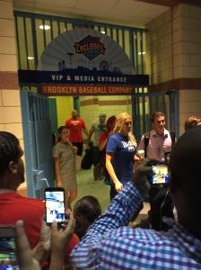 Ryback, Charlotte, Eva Marie, and Fandango leaving MCU Park
