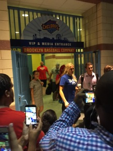 Ryback, Charlotte, Eva Marie, and Fandango leaving MCU Park