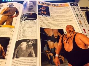 "Bundy's autograph in ""King Kong Bundy"" entry in WWE Encyclopedia, Vol. 2"