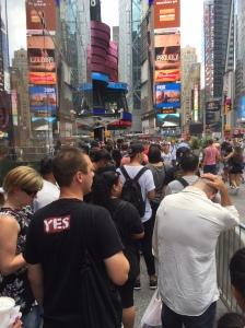 Line outside ToysRUs Times Square