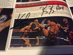 "Bundy autograph in ""Million Dollar Corporation"" entry in WWE Encyclopedia, Vol. 2"