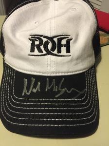 Nigel McGuinness autographed trucker hat