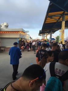 The line to meet Charlotte and Ryback.