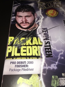 Kevin Steen autograph in ROH/NJPW Global Wars '14 promo
