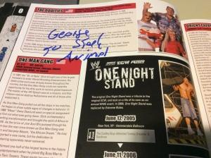 George Steele autograph