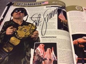 Sgt. Slaughter autograph