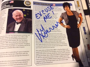 "Vickie Guerrero autograph signed, ""EXCUSE ME! Vickie Guerrero"""